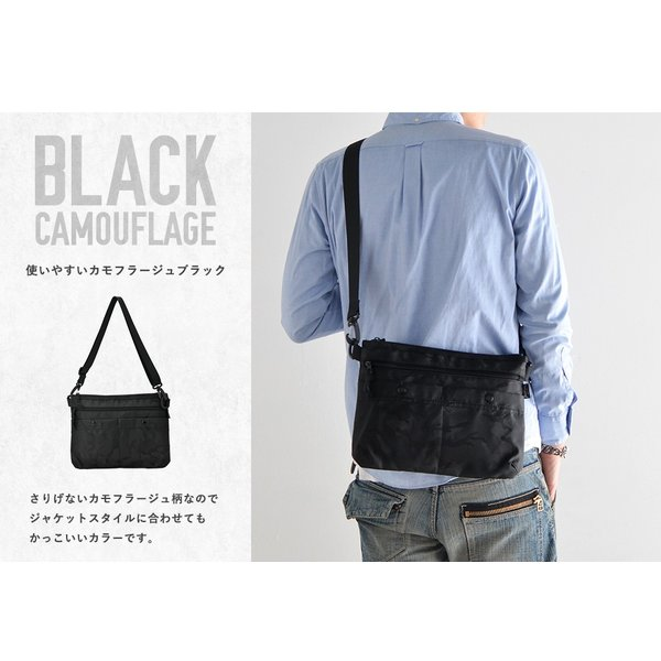 サコッシュ バッグ ショルダーバッグ メンズ メッセンジャー シンプル ブラック 黒 ネイビー 斜めがけ 軽量 ブランド ナイロン 小さめ カジュアル ミニバッグ|crosscharm|10