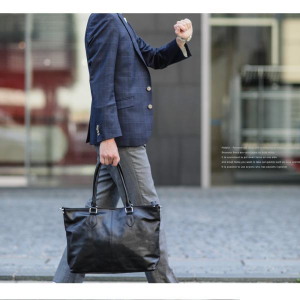 本革バッグ メンズ トートバッグ メンズバッグ ビジネス ショルダーバッグ 2way レザー A4 ブランド 軽量 ファスナー付き ビジネストート バッグ|crosscharm|20