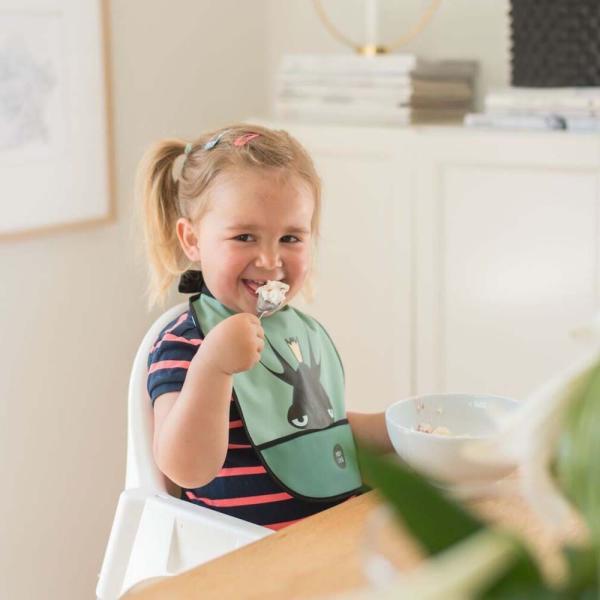 ノルウェー スタイ ハイネックで食べこぼしをブロック かわいい 赤ちゃん用品 よだれかけ ギフト Baby Livia: スタイ Elvis|crossed-lines|04