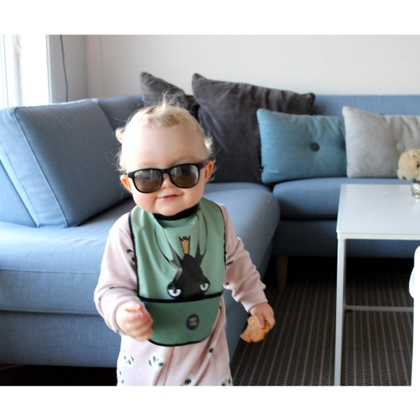 ノルウェー スタイ ハイネックで食べこぼしをブロック かわいい 赤ちゃん用品 よだれかけ ギフト Baby Livia: スタイ Elvis|crossed-lines|05