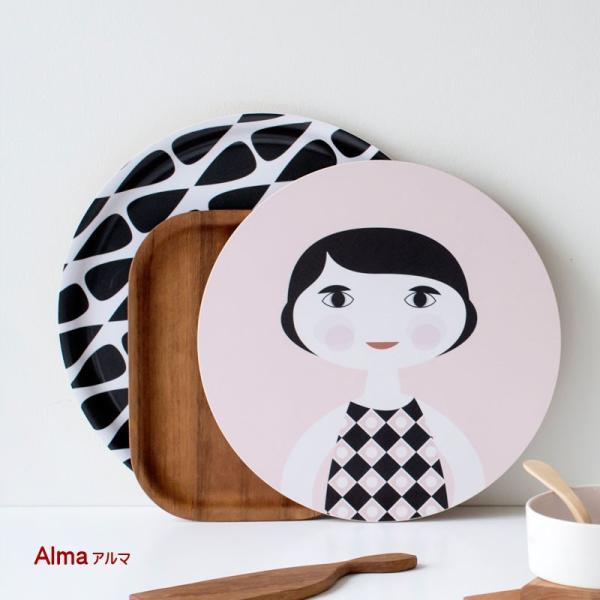 カッティングボード 木製 キッチン テーブル インテリア 北欧 Nama :ラウンド crossed-lines