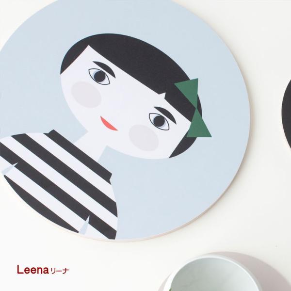 カッティングボード 木製 キッチン テーブル インテリア 北欧 Nama :ラウンド crossed-lines 02