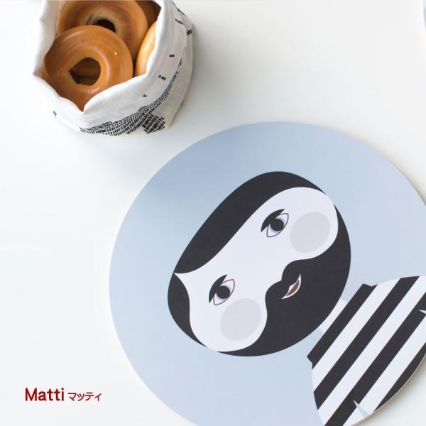 カッティングボード 木製 キッチン テーブル インテリア 北欧 Nama :ラウンド crossed-lines 03