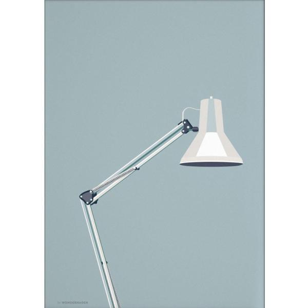 ポスター 50x70cm 北欧 デンマーク インテリア おしゃれ スタイリッシュ デザイン Wonderhagen 「Architect Lamp」 crossed-lines