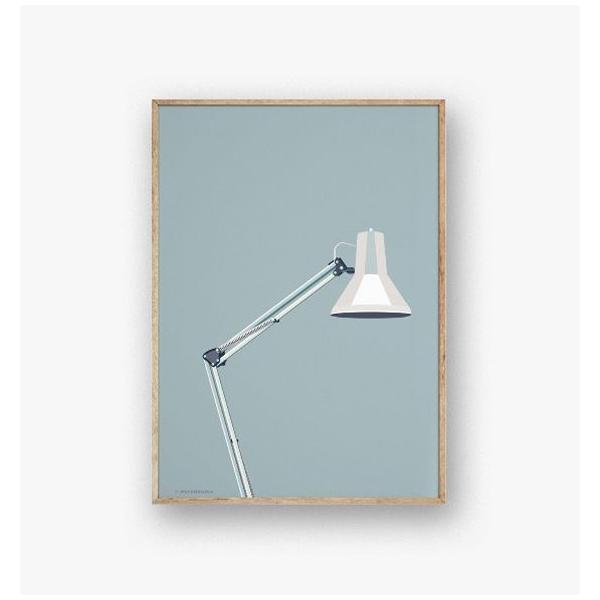 ポスター 50x70cm 北欧 デンマーク インテリア おしゃれ スタイリッシュ デザイン Wonderhagen 「Architect Lamp」 crossed-lines 02