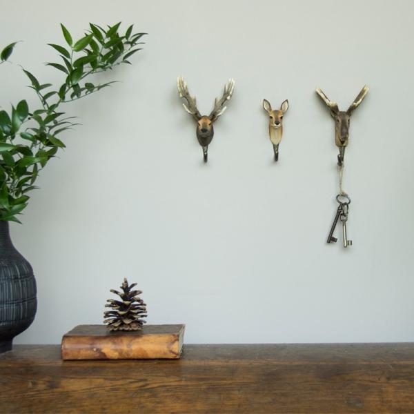 北欧 フック 動物 スウェーデン 剥製風 インテリア 手彫り 木製壁掛け Wildlife Garden アニマル・フック:ヘラジカ|crossed-lines|03