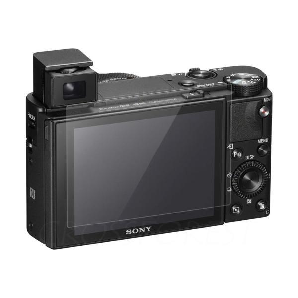 クロスフォレスト SONY DSC-RX100M3/100M2/RX100, RX1/RX1R用日本製ガラスフィルム ラウンドエッジ Glass Film 「CF-GCSRX100」液晶保護フィルム