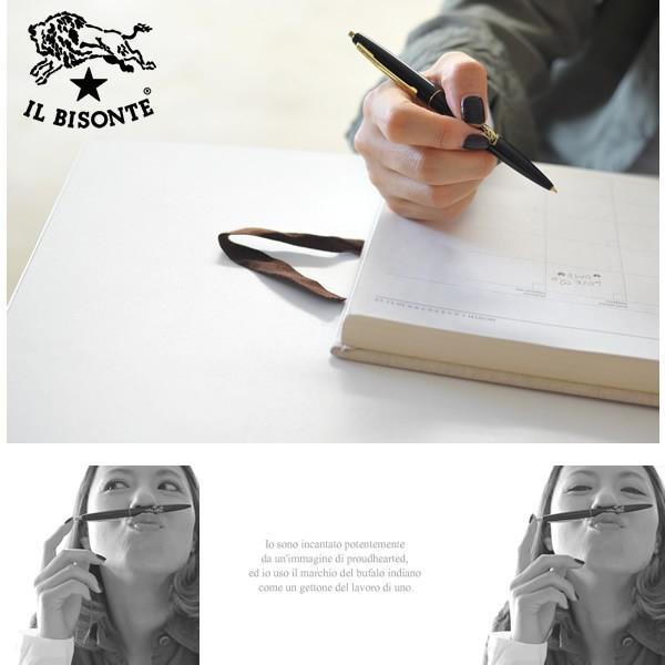 イルビゾンテ IL BISONTE ゴールドブランドアイコン ボールペン・5432404298(全3色)(unisex)|crouka|03