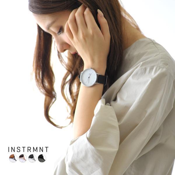 インストゥルメント INSTRMNT レザーストラップ リストウォッチ アナログ腕時計・2980 (ユニセックス)|crouka