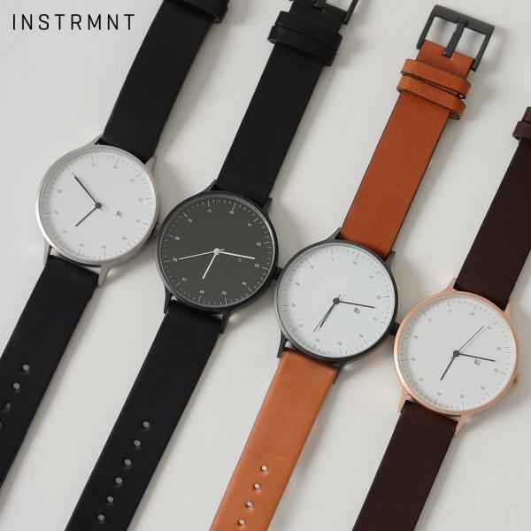 インストゥルメント INSTRMNT レザーストラップ リストウォッチ アナログ腕時計・2980 (ユニセックス)|crouka|02