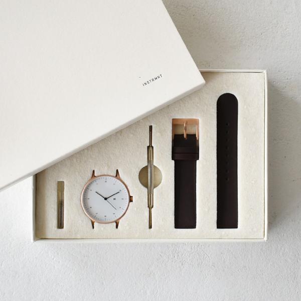 インストゥルメント INSTRMNT レザーストラップ リストウォッチ アナログ腕時計・2980 (ユニセックス)|crouka|03
