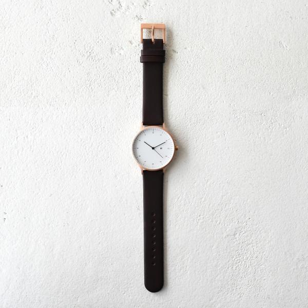 インストゥルメント INSTRMNT レザーストラップ リストウォッチ アナログ腕時計・2980 (ユニセックス)|crouka|06