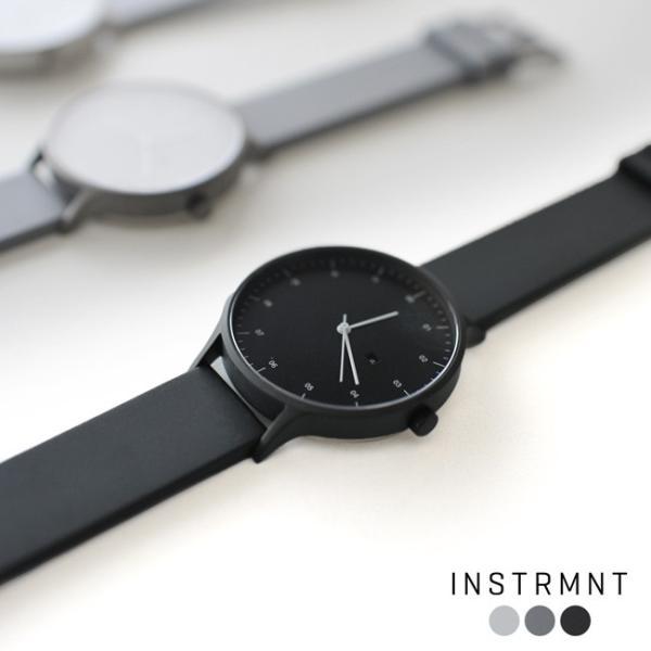 プレミアム会員P10倍 インストゥルメント INSTRMNT レザー・ラバー・ストラップ リストウォッチ アナログ腕時計 ・ 3280|crouka