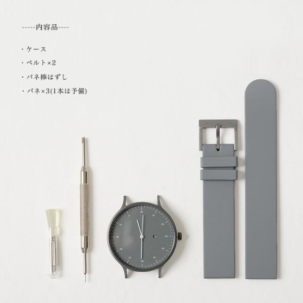 プレミアム会員P10倍 インストゥルメント INSTRMNT レザー・ラバー・ストラップ リストウォッチ アナログ腕時計 ・ 3280|crouka|10