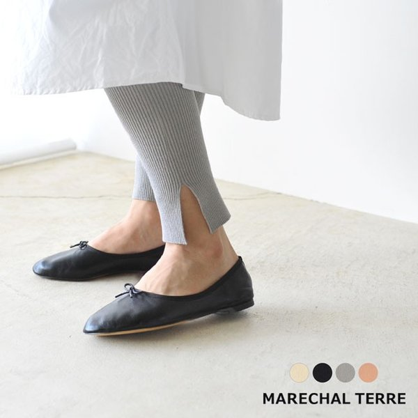 マルシャル テル MARECHAL TERRE Rib leggings リブレギンス ニット レギンス パンツ ・ZMT191KN724|crouka