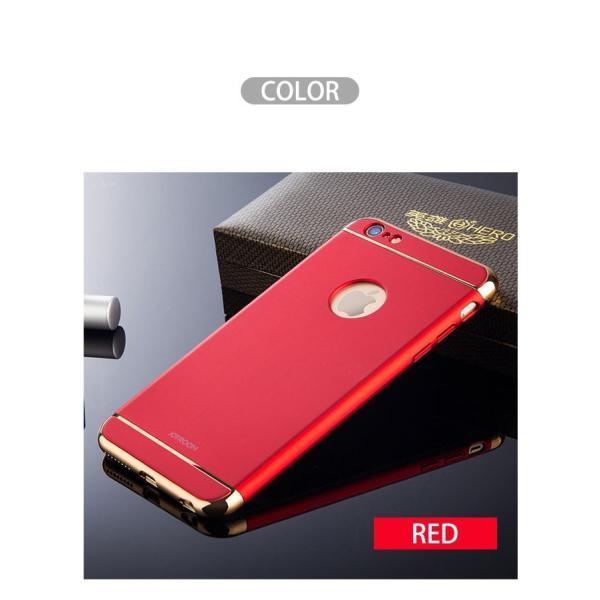 iPhone6Plus ガラスフィルム 付き iPhone6 ケース カバー iPhone X 10 6s Plus 耐衝撃 アイフォン スマホケース おしゃれ 携帯カバー 3in1slimmat Red|crown-shop|06