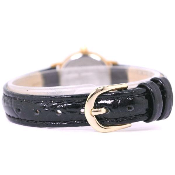 TISSOT ティソ TKP-JA 腕時計 ステンレススチール×レザー ゴールド クオーツ レディース 白文字盤 中古  B+ランク