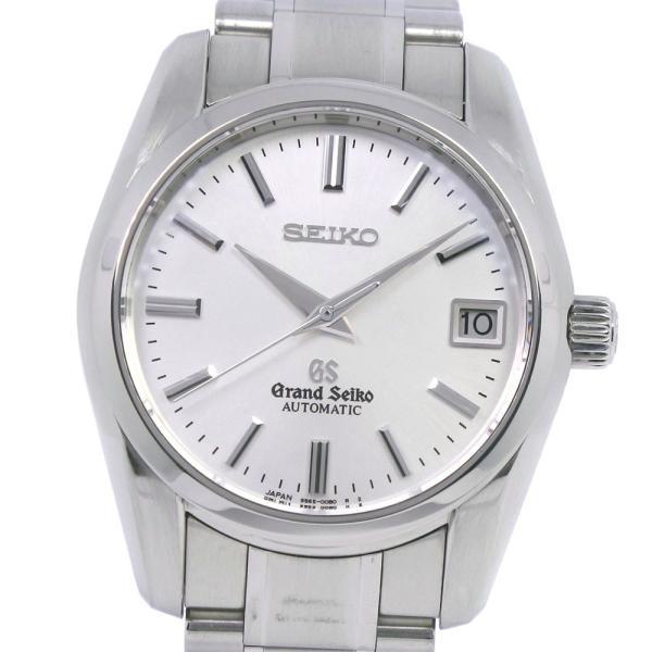 SEIKO セイコー グランドセイコー 9S65-00B0 SBGR051 腕時計 ステンレススチール シルバー 自動巻き メンズ シルバー文字盤 中古  A-ランク