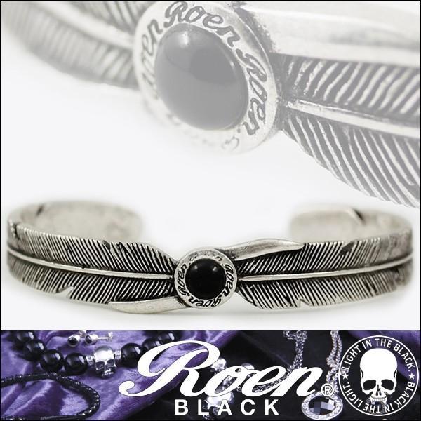 ロエン フェザー バングル ブレスレット オニキス Roen BLACK RoenBLACK メンズ ロエンブラック 天然石 パワーストーン アクセサリー ジュエリー ブランド