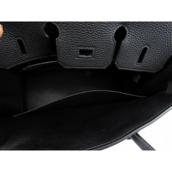 エルメス バーキン25 ハンドバッグ ブラック(金具:シルバー) トゴ  新品