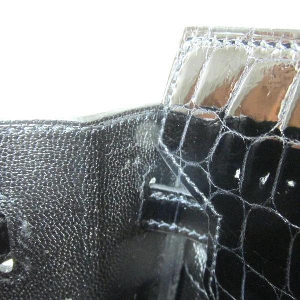 エルメス バーキン25タッチ ハンドバッグ ブラック(ピンクゴールド金具) トゴ x アリゲーターシャイン  新品