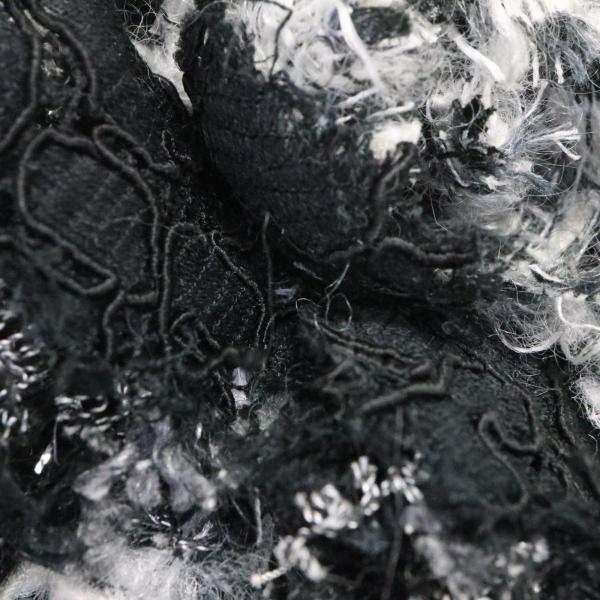 シャネル 【おすすめ!】シャネル ブローチ ブラック系 x ホワイト系 布素材  ランクA