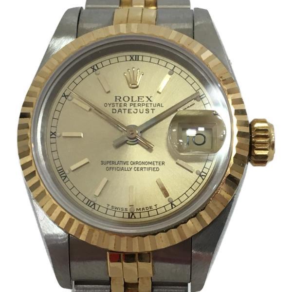 ロレックス デイトジャスト レディース腕時計/レディース ステンレススチール(SS)×K18YG(750) イエローゴールド 69173 ランクA|cruru