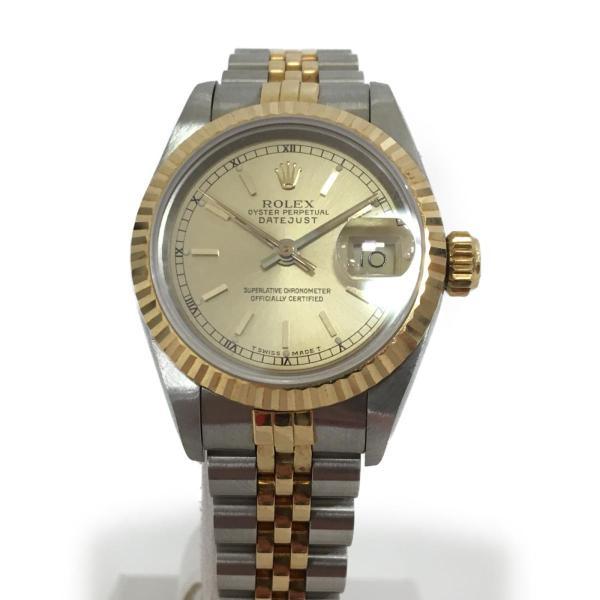 ロレックス デイトジャスト レディース腕時計/レディース ステンレススチール(SS)×K18YG(750) イエローゴールド 69173 ランクA|cruru|02