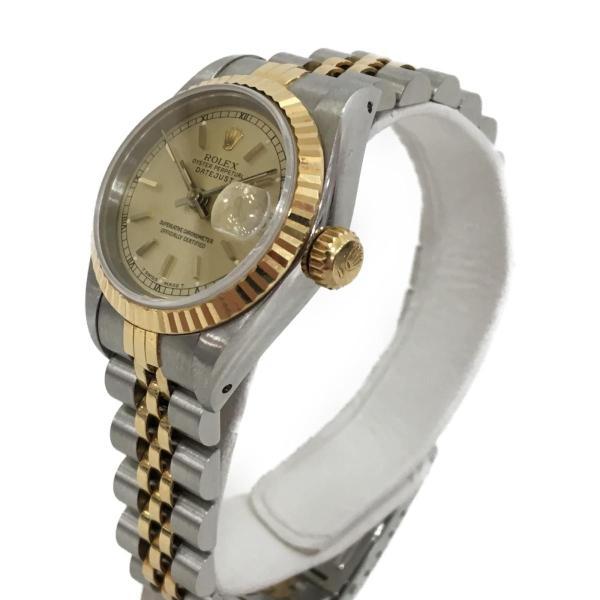 ロレックス デイトジャスト レディース腕時計/レディース ステンレススチール(SS)×K18YG(750) イエローゴールド 69173 ランクA|cruru|03
