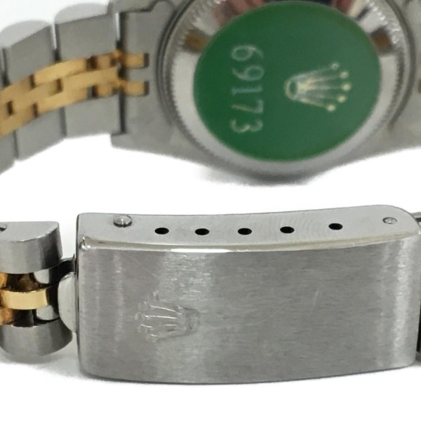 ロレックス デイトジャスト レディース腕時計/レディース ステンレススチール(SS)×K18YG(750) イエローゴールド 69173 ランクA|cruru|07