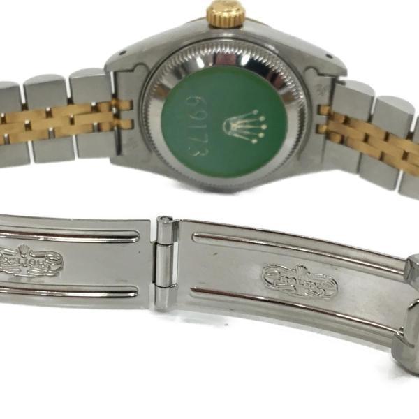 ロレックス デイトジャスト レディース腕時計/レディース ステンレススチール(SS)×K18YG(750) イエローゴールド 69173 ランクA|cruru|08