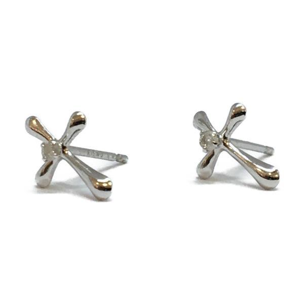 ジュエリー ジュエリー ダイヤモンド ピアス クロス K18WG(750)ホワイトゴールド×ダイヤモンド(0.01×2)  ランクA|cruru