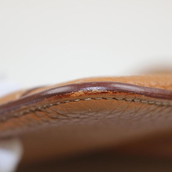 エルメス ドゴンGM 二つ折り長財布 メンズ レディース 長財布 ゴールド(シルバー金具) トゴ  ランクB|cruru|10