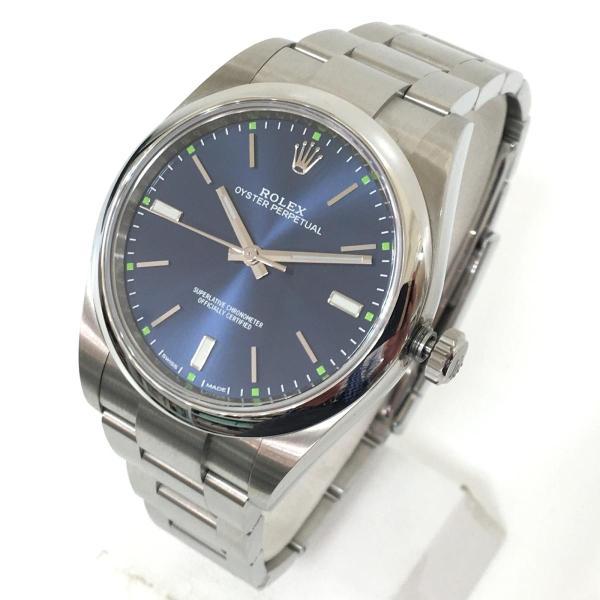 【特価商品】ロレックス オイスター パーペチュアル メンズ 腕時計 ウォッチ 青系ブルー系 ステンレススチール(SS) 114300 ランクA|cruru|02