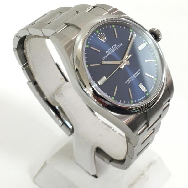 【特価商品】ロレックス オイスター パーペチュアル メンズ 腕時計 ウォッチ 青系ブルー系 ステンレススチール(SS) 114300 ランクA|cruru|03