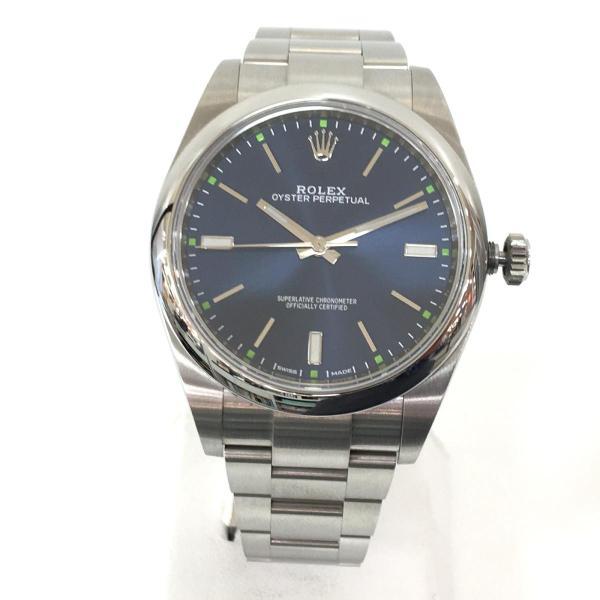 【特価商品】ロレックス オイスター パーペチュアル メンズ 腕時計 ウォッチ 青系ブルー系 ステンレススチール(SS) 114300 ランクA|cruru|04
