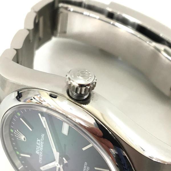 【特価商品】ロレックス オイスター パーペチュアル メンズ 腕時計 ウォッチ 青系ブルー系 ステンレススチール(SS) 114300 ランクA|cruru|08