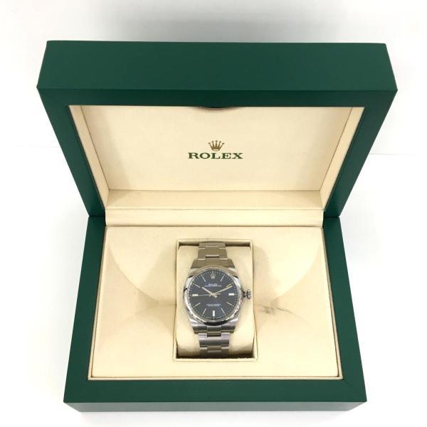 【特価商品】ロレックス オイスター パーペチュアル メンズ 腕時計 ウォッチ 青系ブルー系 ステンレススチール(SS) 114300 ランクA|cruru|09