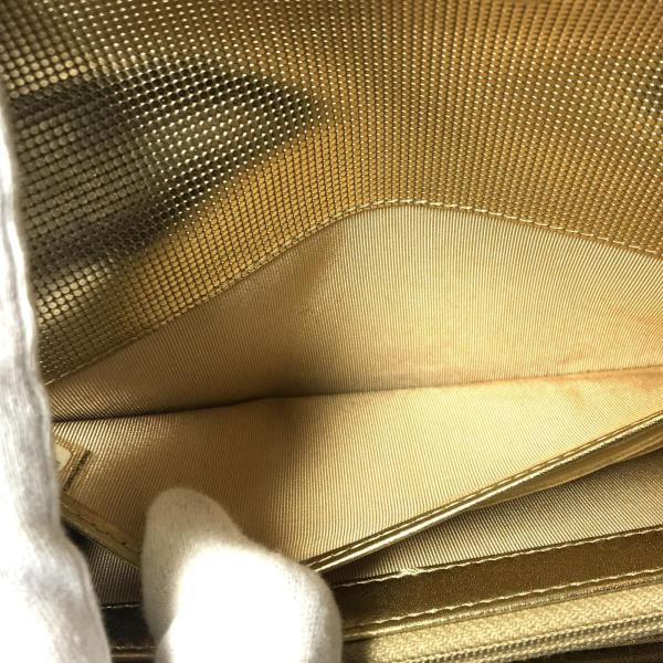 シャネル ZIP長財布 二つ折り長財布 レディース 長財布 ゴールド系 牛革(カーフ)×ナイロン 80758 ランクA|cruru|12