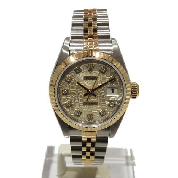 ロレックス デイトジャスト ウォッチ 腕時計 白系 K18YG(750)イエローゴールド×ステンレススチール×ダイヤモンド 69173G ランクA cruru 02