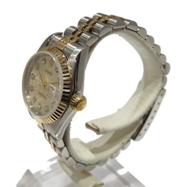 ロレックス デイトジャスト ウォッチ 腕時計 白系 K18YG(750)イエローゴールド×ステンレススチール×ダイヤモンド 69173G ランクA cruru 04