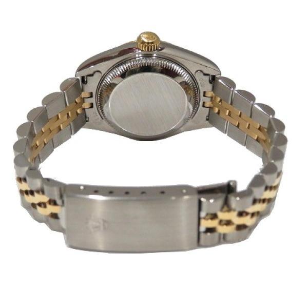 ロレックス デイトジャスト ウォッチ 腕時計 白系 K18YG(750)イエローゴールド×ステンレススチール×ダイヤモンド 69173G ランクA cruru 05