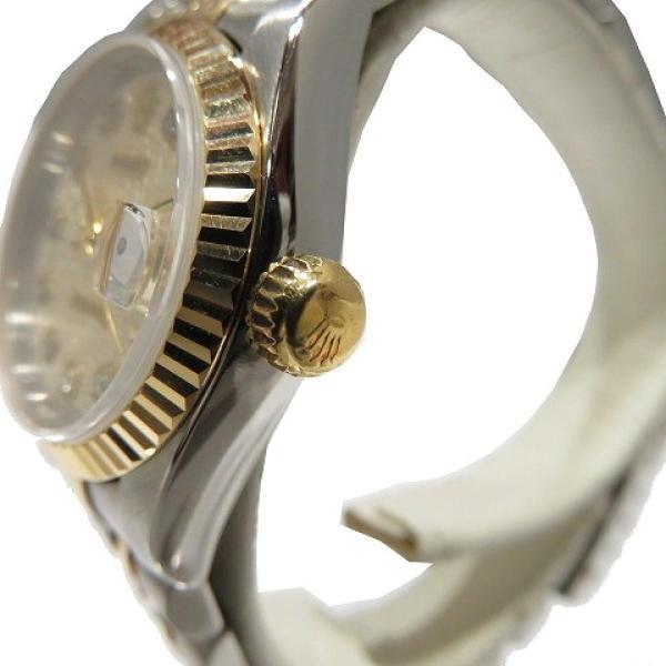 ロレックス デイトジャスト ウォッチ 腕時計 白系 K18YG(750)イエローゴールド×ステンレススチール×ダイヤモンド 69173G ランクA cruru 08