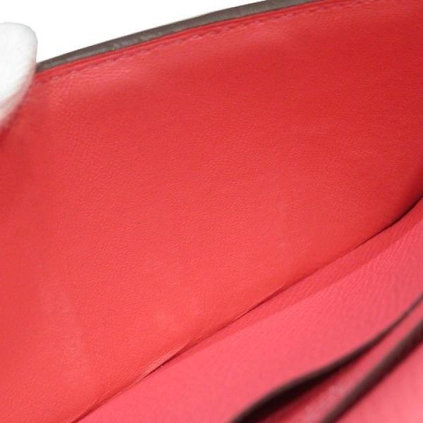 エルメス ベアンスフレ ウォレット 二つ折り長財布 長財布 赤系ローズアザレ ヴォー・エプソン  ランクB|cruru|16