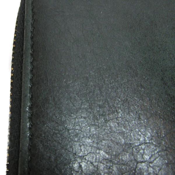 バレンシアガ ラウンド長財布 長財布 ブラック 羊革(ラム)  ランクB cruru 12