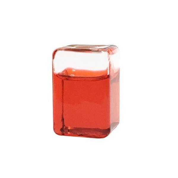 Freeze it (角)レッド ガラスの氷(アイスキューブ、溶けない氷、飲み物を薄めずに冷やせる)