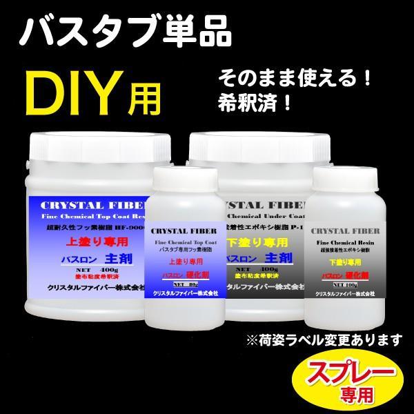 浴室修復塗料 バスロン バスタブ単品用 スプレー専用 選べる10色|crystalfiber