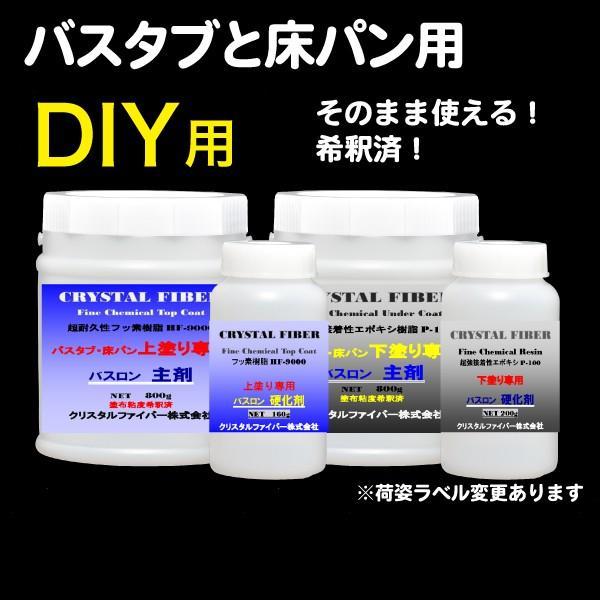浴室修復塗料 バスロン バスタブと床パン用 塗布剤 選べる10色|crystalfiber