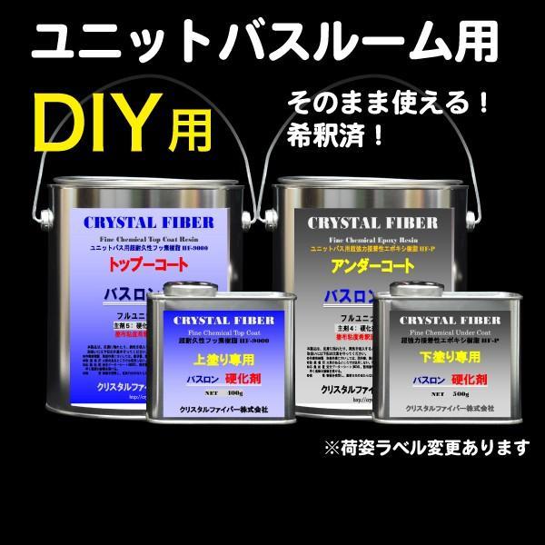浴室修復塗料 バスロン ユニットバスルーム用 塗布剤 選べる10色|crystalfiber