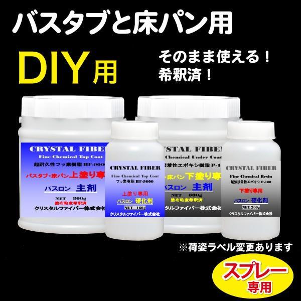 浴室修復塗料 バスロン バスタブと床パン用 スプレー専用 選べる10色|crystalfiber